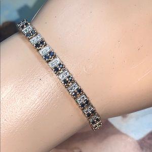 Jewelry - 💙BEAUTIFUL TENNIS BRACELET 💙! Diamond/Sapphires!